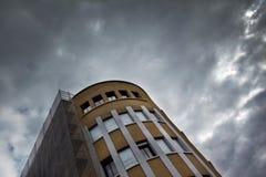 经典大厦和脚手架 免版税图库摄影
