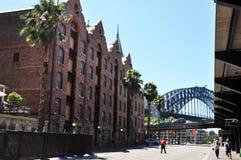 经典大厦在岩石城市在悉尼 免版税库存照片