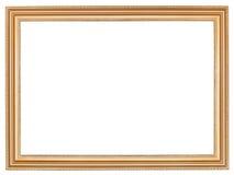 经典宽减速火箭的木画框 免版税库存照片