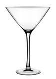 经典对比在白色的玻璃高马蒂尼鸡尾酒 图库摄影