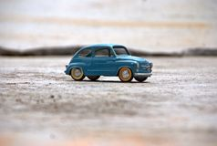经典小的汽车玩具 免版税库存照片