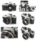 经典影片SLR照相机拼贴画 免版税库存照片