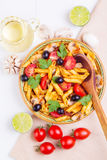 经典意大利食物-面团 免版税库存照片