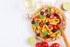 经典意大利食物-面团 库存照片