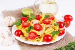 经典意大利食物-面团 免版税图库摄影