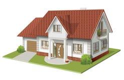 经典房子的传染媒介例证3d 免版税库存照片
