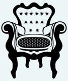 经典扶手椅子葡萄酒 库存图片