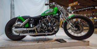 经典摩托车哈利戴维森Shovelhead, 1980年 库存照片