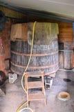 经典木葡萄酒桶 库存图片
