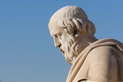 经典柏拉图雕象 库存照片