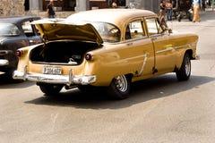 经典汽车在哈瓦那,古巴 库存照片