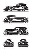 经典汽车用不同的看法 向量例证
