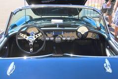 经典汽车:1970年雪佛兰轻武装快舰/仪表板 免版税库存照片