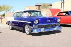 经典汽车:1956年雪佛兰贝莱尔 库存图片