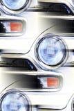 经典汽车细节摘要 免版税库存图片