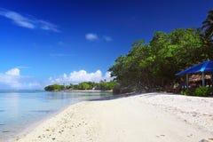 经典海滩在马尔代夫 免版税库存照片