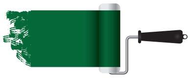 经典漆滚筒油漆绿色 免版税库存照片
