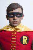 经典电视节目蝙蝠侠和罗宾热的玩具行动象征 免版税库存图片