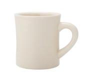 经典白色吃饭的客人咖啡杯 免版税库存照片
