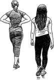 经典的体育的女学生 向量例证