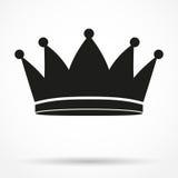 经典皇家国王的剪影简单的标志 免版税库存照片