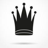 经典皇家女王/王后的剪影简单的标志 免版税图库摄影