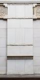 经典石圆柱基础细节 免版税库存照片