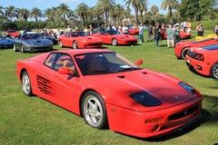 经典红色法拉利512tr跑车 库存照片