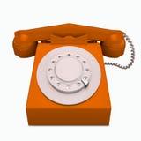 经典红色电话 库存照片