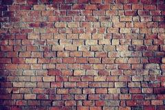 经典美丽的织地不很细砖墙 免版税库存照片