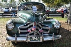 经典美国汽车前面 免版税库存图片