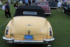 经典美国汽车背面图 库存图片