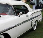 经典美国汽车边细节 免版税库存照片