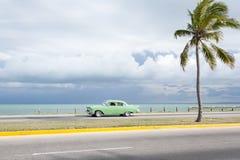 经典美国汽车巴拉德罗角古巴 库存图片