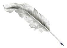 经典羽毛纤管例证 免版税库存照片