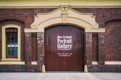 经典老大厦海关奎伊位于作为新西兰画象画廊CBD使用的惠灵顿 图库摄影