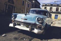 经典老汽车在哈瓦那,古巴 库存照片