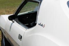 经典肌肉汽车边细节 库存图片