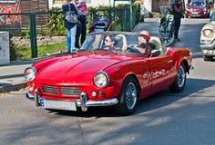 经典英国汽车MG胜利 库存图片