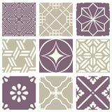 经典葡萄酒典雅的淡色紫罗兰色无缝的抽象样式43 免版税库存图片