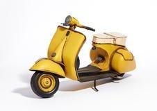 经典葡萄酒小型摩托车 免版税库存图片