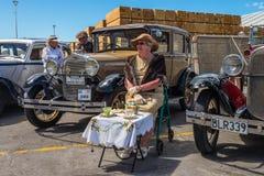 经典葡萄酒老1929年福特汽车艺术装饰周末纳皮尔 免版税图库摄影