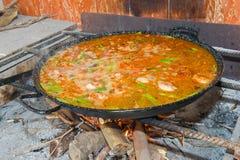 经典西班牙肉菜饭 图库摄影