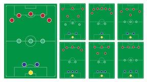经典足球形成集合 免版税库存图片