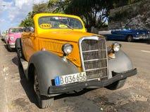 经典车的哈瓦那,古巴 免版税库存照片