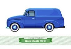 经典送货卡车侧视图 免版税库存图片