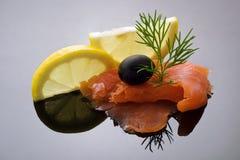 典雅三文鱼称呼 图库摄影