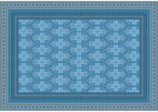 典雅浅兰与的地毯的米黄树荫样式 库存图片