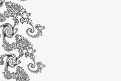 典雅的与条纹线的分数维单色梯度卡片 向量例证