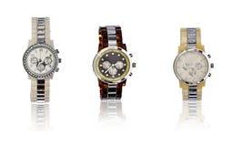 典雅的人手表的选择 库存图片